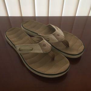 Sperry Flip Flops tan/gold